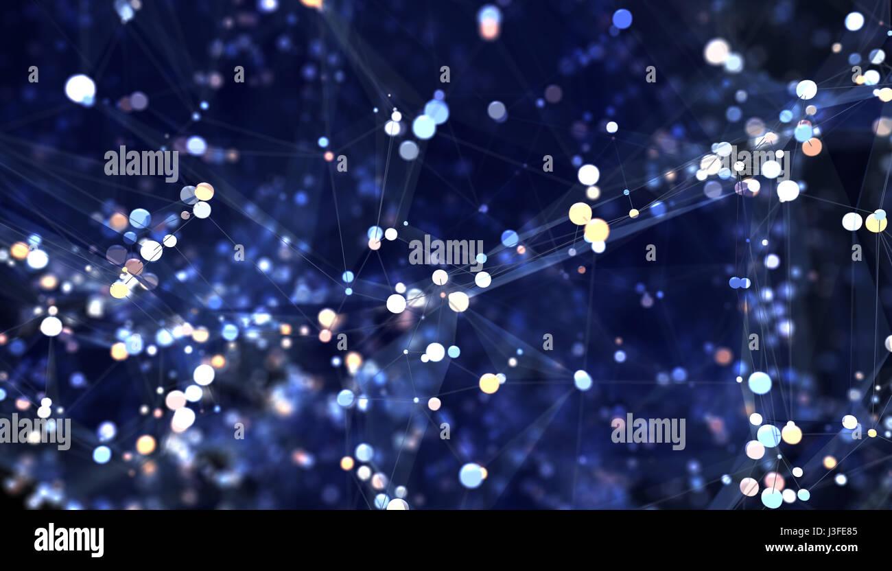 Résumé Contexte réseau. 3D illustration Photo Stock