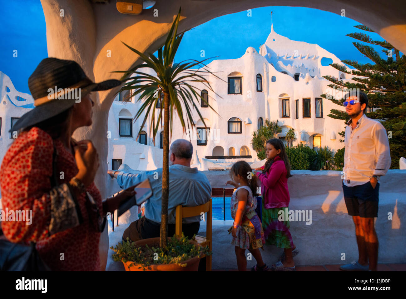 Musée Casapueblo. Accueil et atelier de l'artiste local Carlos Paez Vilaró, Punta Ballena, Punta del Photo Stock
