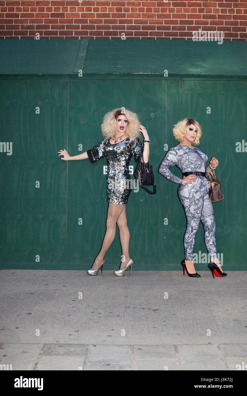 Portrait de deux Drag Queens Photo Stock