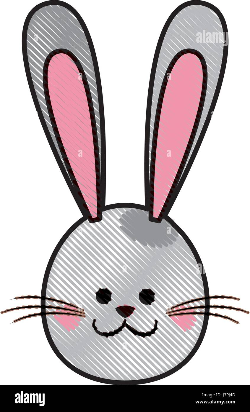 Drawing Cute Head Rabbit Easter Photos Drawing Cute Head Rabbit