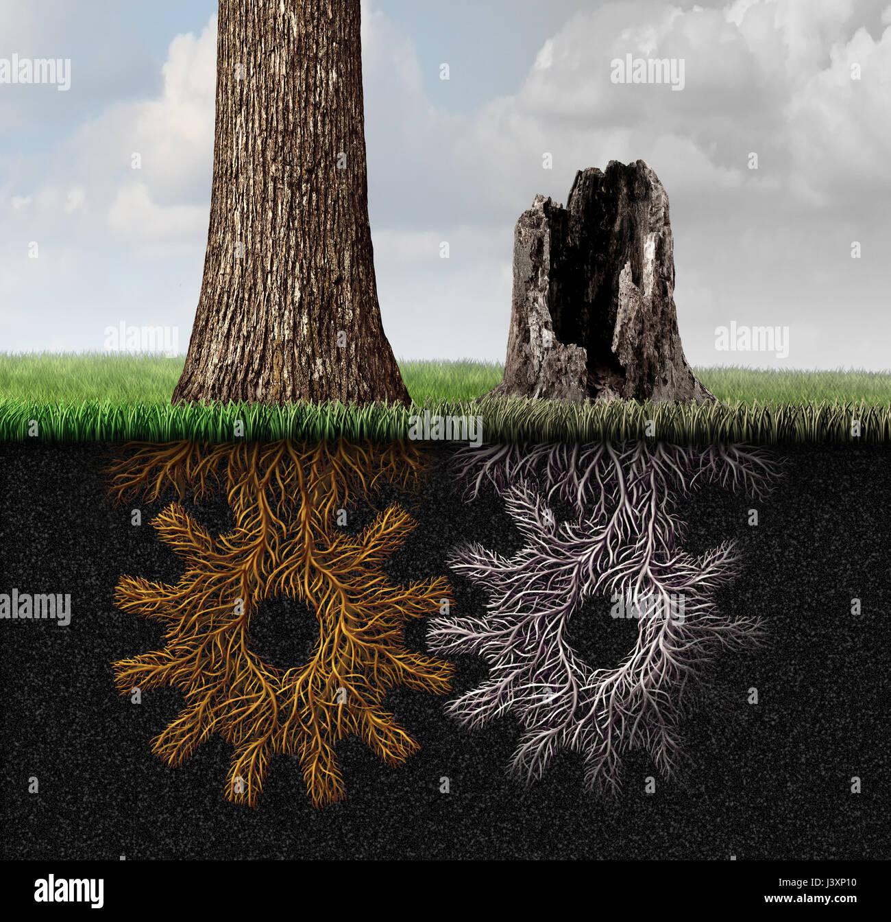 La crise économique et le partenariat d'entreprises mort comme une industrie et l'économie, symbole Photo Stock