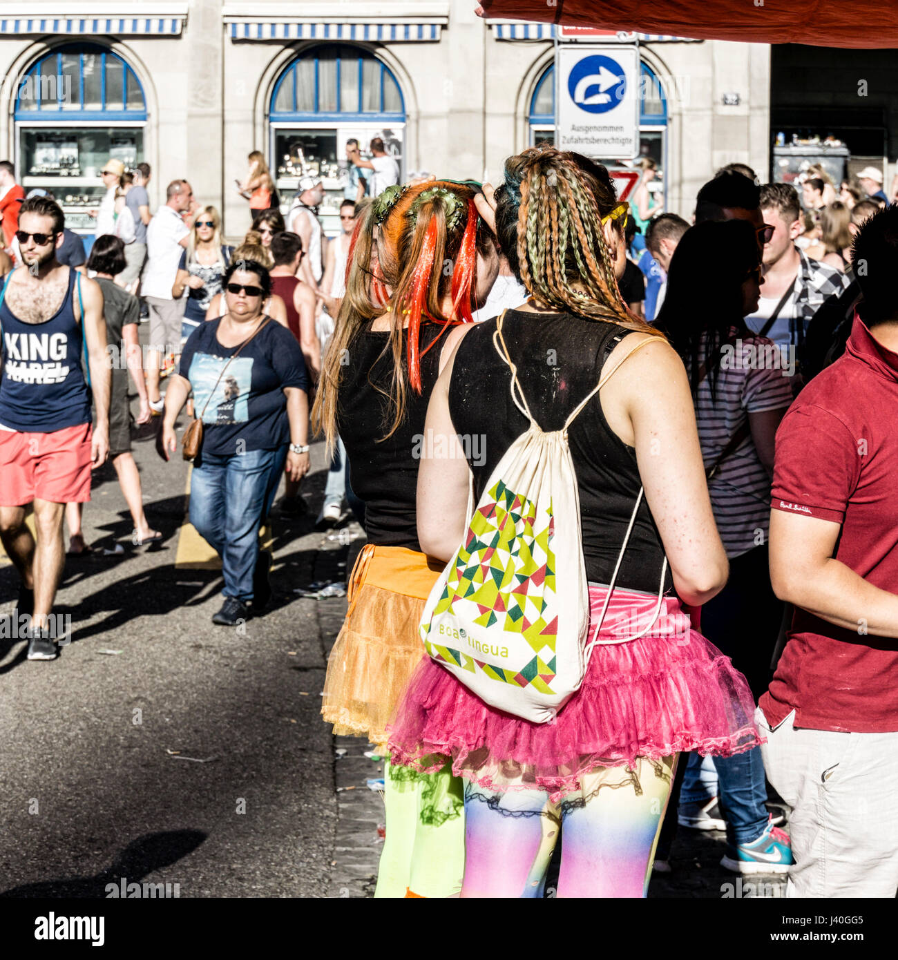Party People, street parade, Zurich , Suisse Banque D'Images