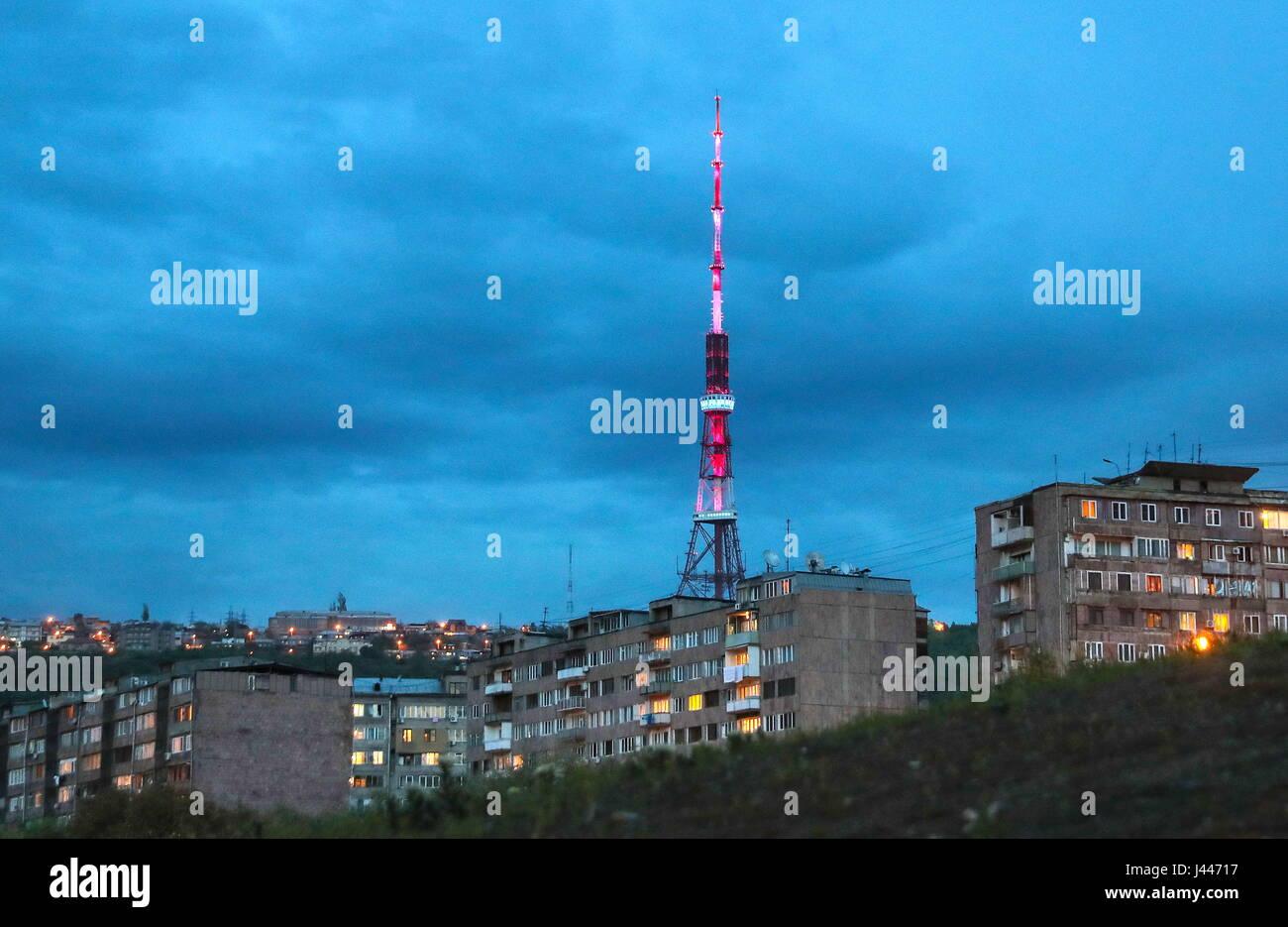 Erevan Armenie 10 Mai 2017 Vue De La Tour De Television D Erevan