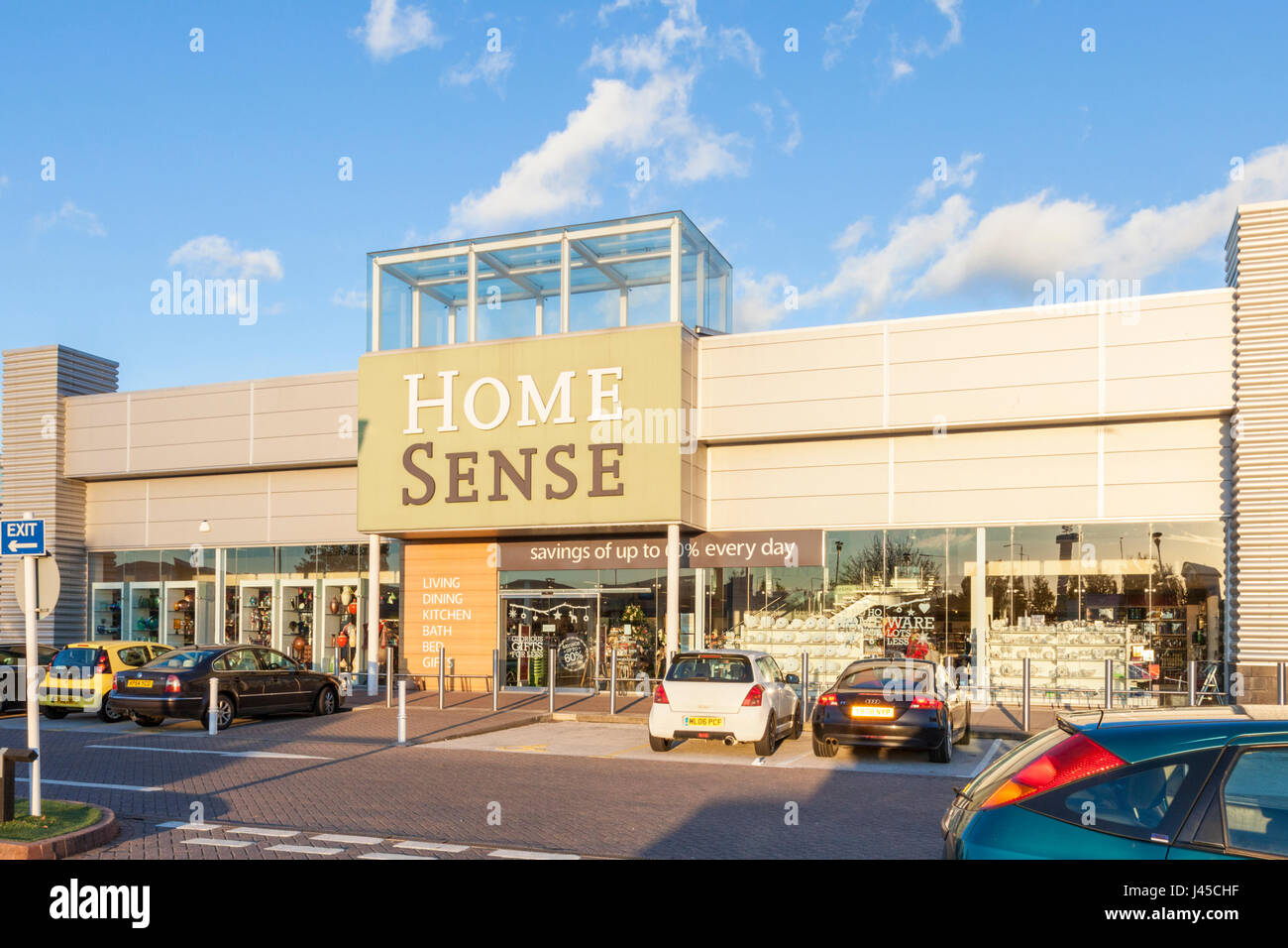 Home Sense store, château de plaisance Retail Park, Nottingham, England, UK Photo Stock