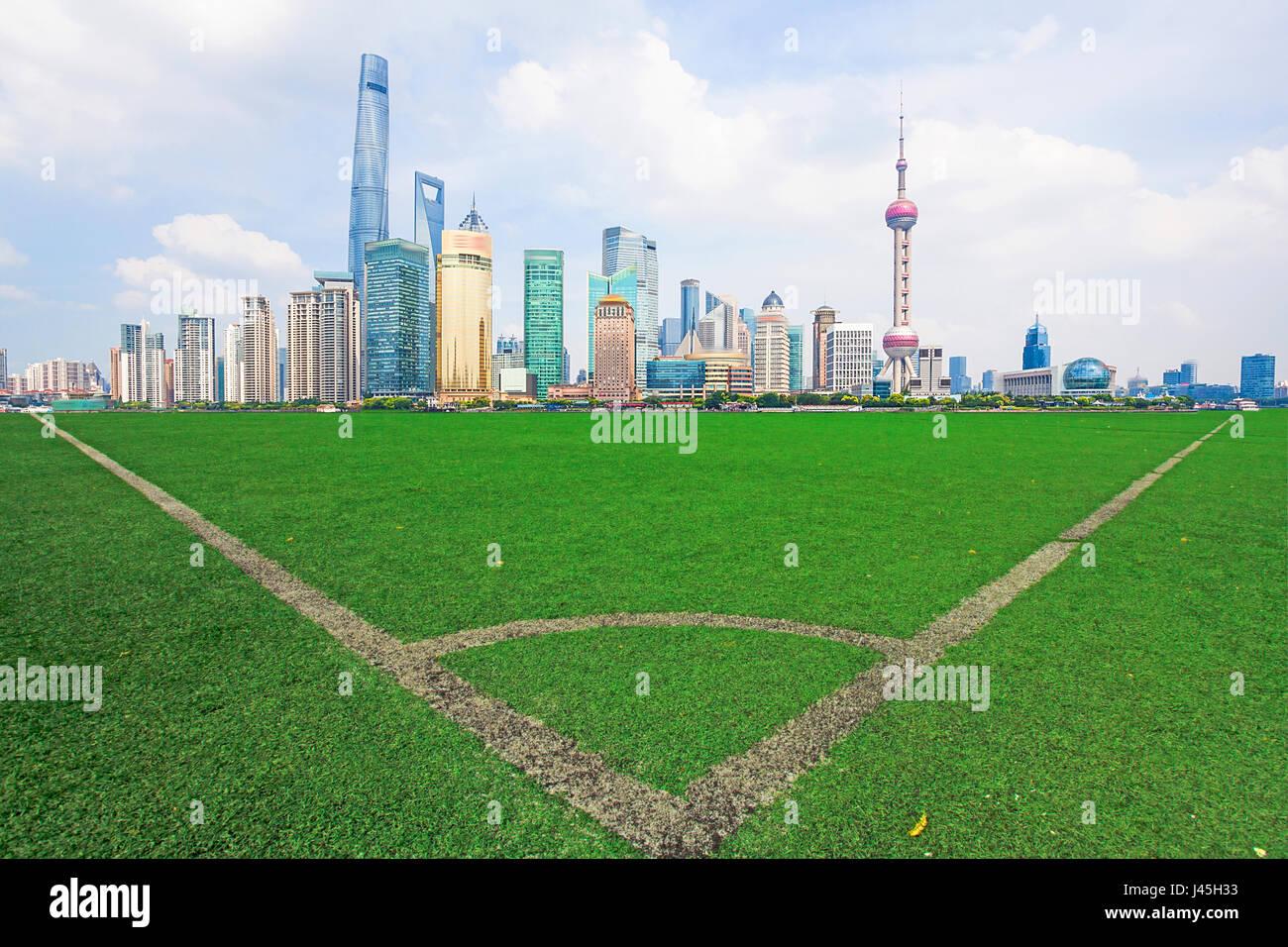 L'architecture urbaine à Shanghai Banque D'Images