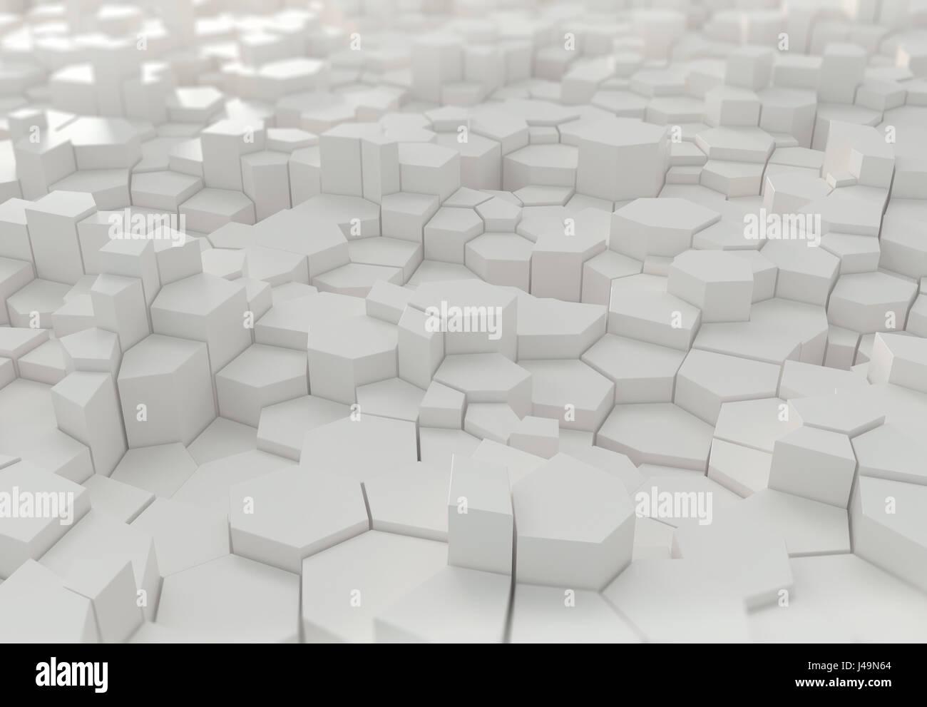 Résumé arrière-plan 3D - 3D illustration Banque D'Images