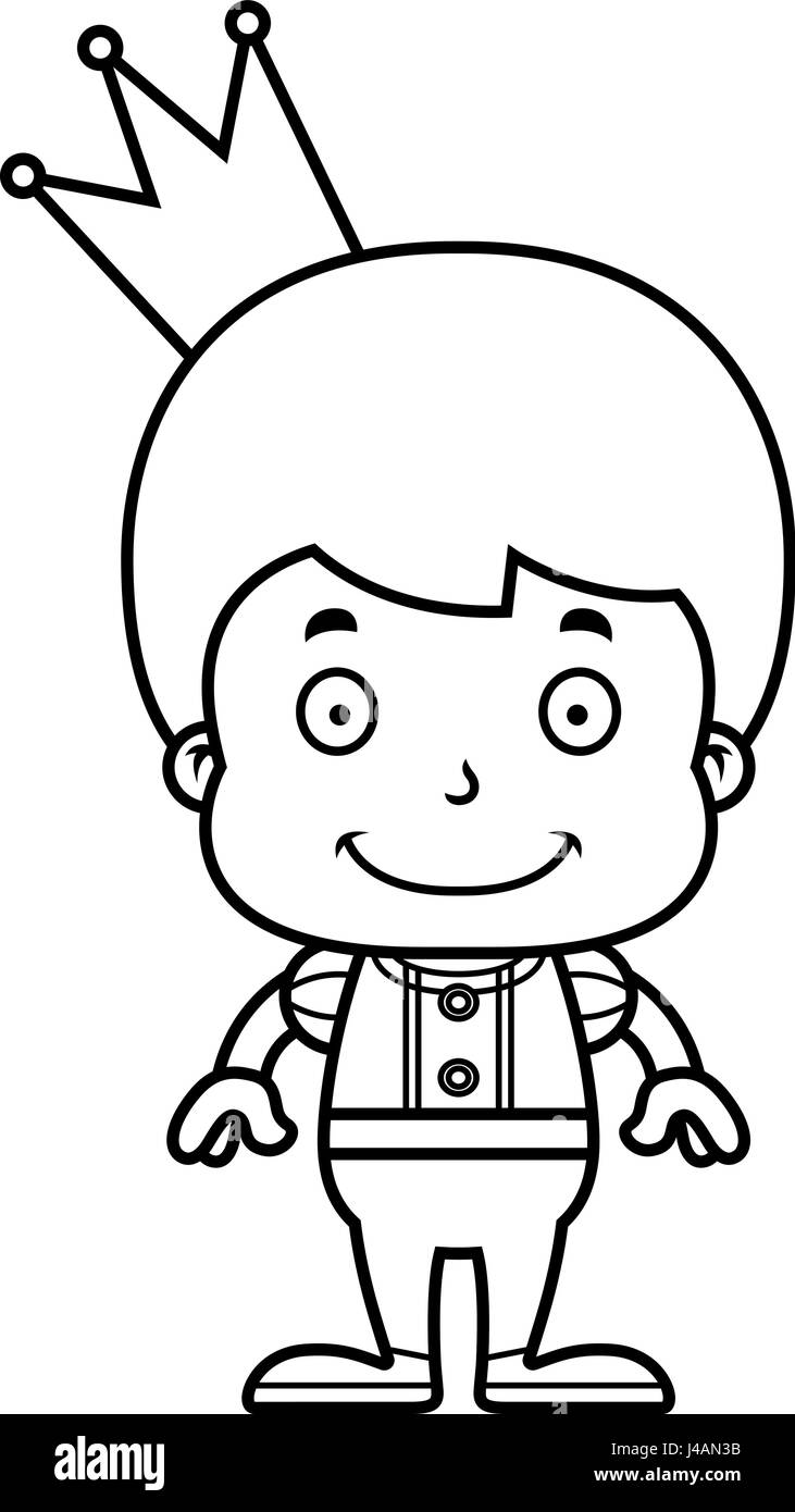 Un dessin animé prince boy smiling