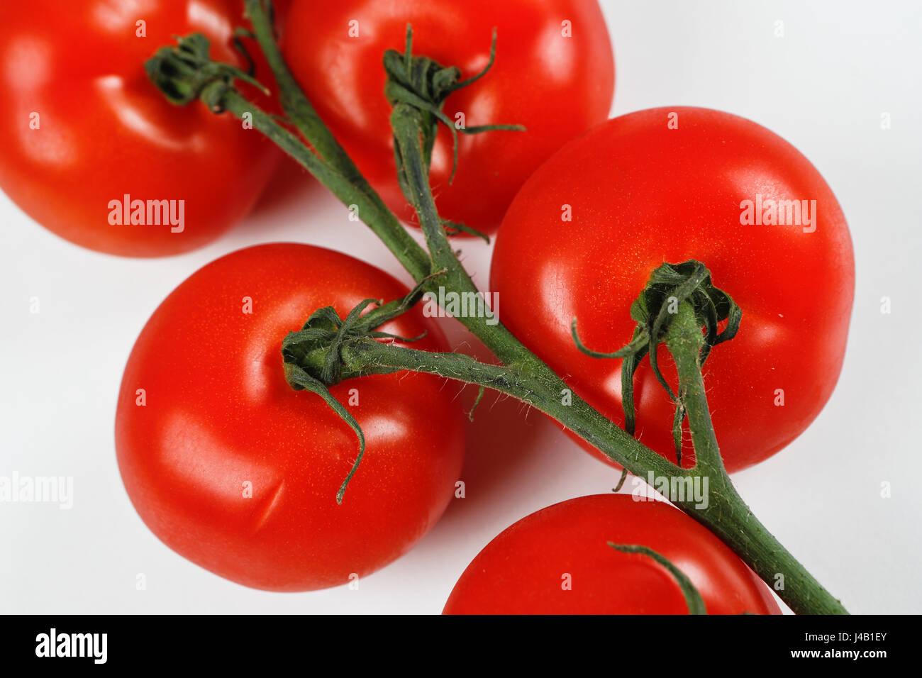 Tomates biologiques. Concepts alimentaires. Tomates. Illustration Banque D'Images