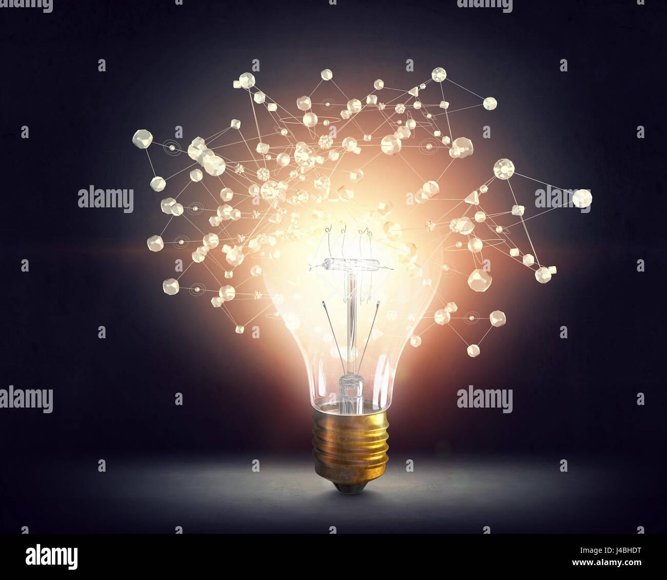Des idées pour la mise en réseau efficace Banque D'Images