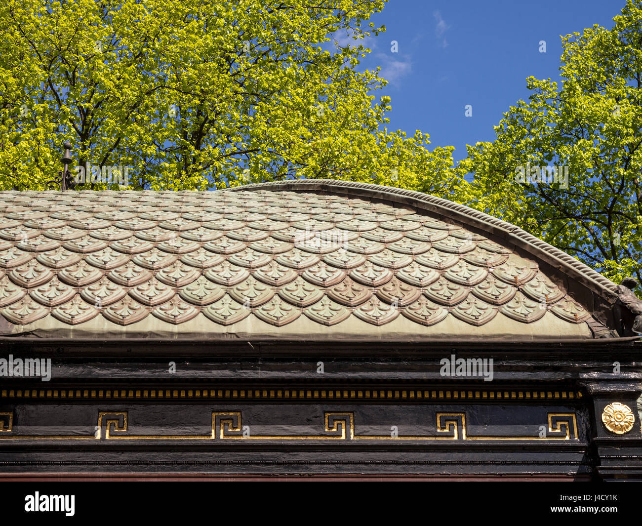 Détail du toit, le Royal Pump Room Museum, Harrogate, Royaume-Uni. Photo Stock