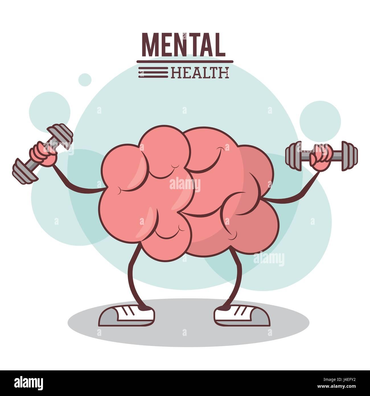 Le concept de santé mentale. cerveau droit sain exercice de formation Photo Stock