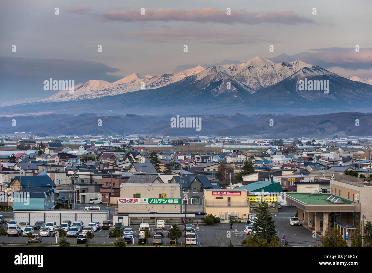Vue spectaculaire sur le parc national de Daisetzuan de Furano, Hokkaido, Japon, Asie Photo Stock