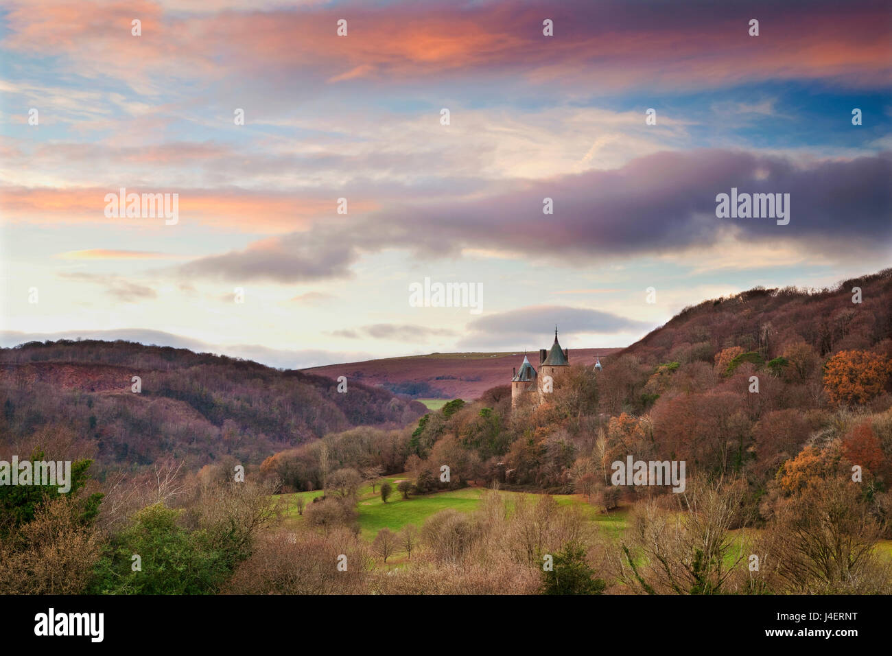 Castle Coch (Castell Coch) (Le Château Rouge), Tongwynlais, Cardiff, Pays de Galles, Royaume-Uni, Europe Photo Stock