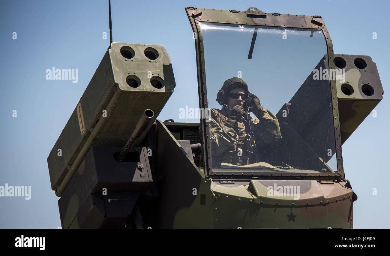 Système de missiles de défense aérienne Avenger, USA Banque D'Images
