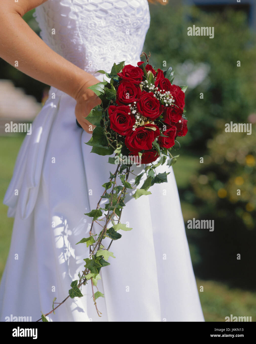 Mariage Mariee Detail Bouquet Roses Rouge Occasion Fete