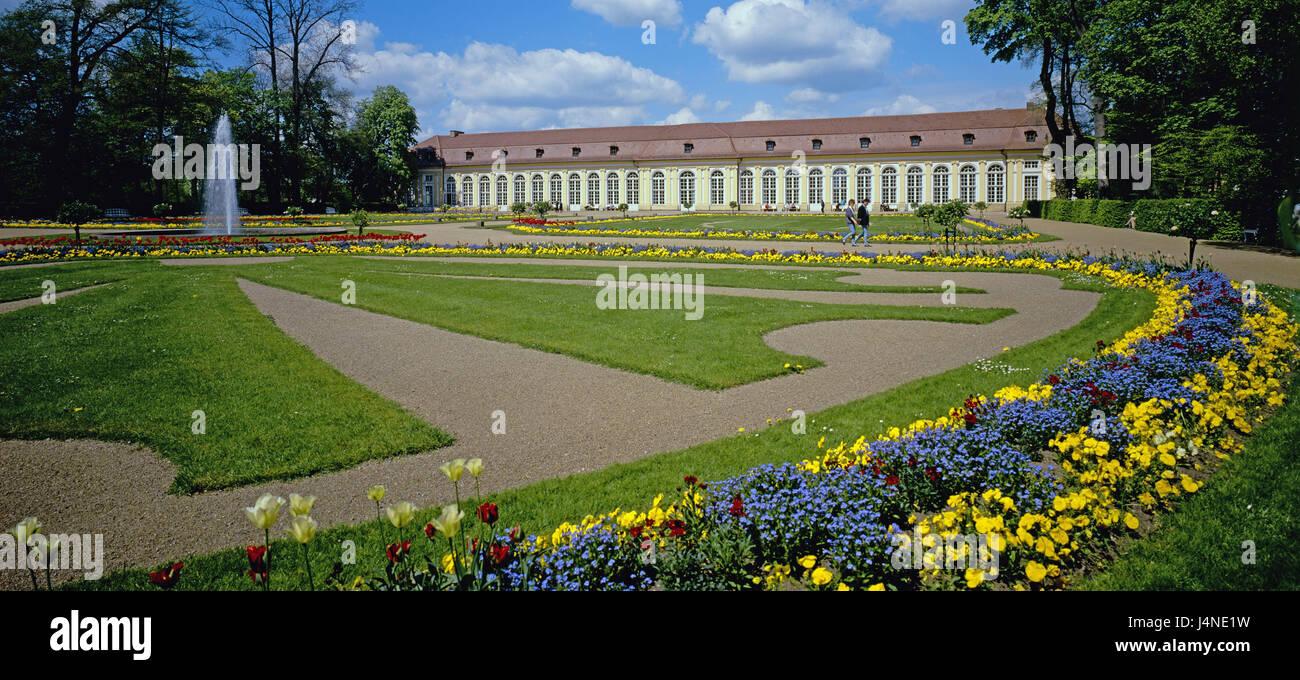 Allemagne, Bavière, Bade-Wurtemberg, Ansbach, cour jardin ...