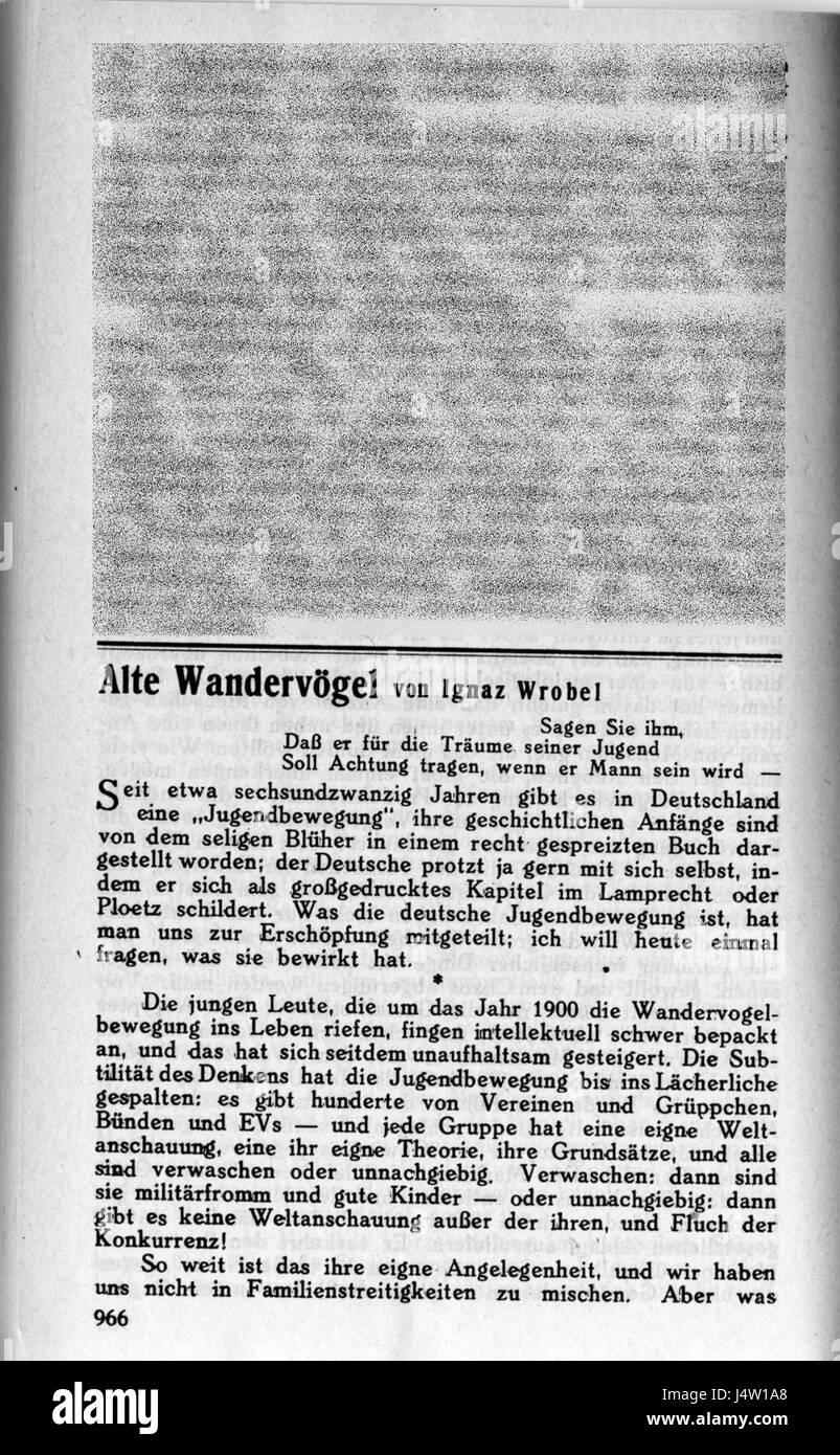 1926 Weltbuehne J 966 Photo Stock