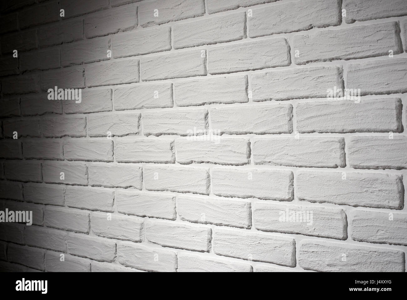 Mur Effet Brique Blanche mur en brique blanche avec effet de lumière et ombre
