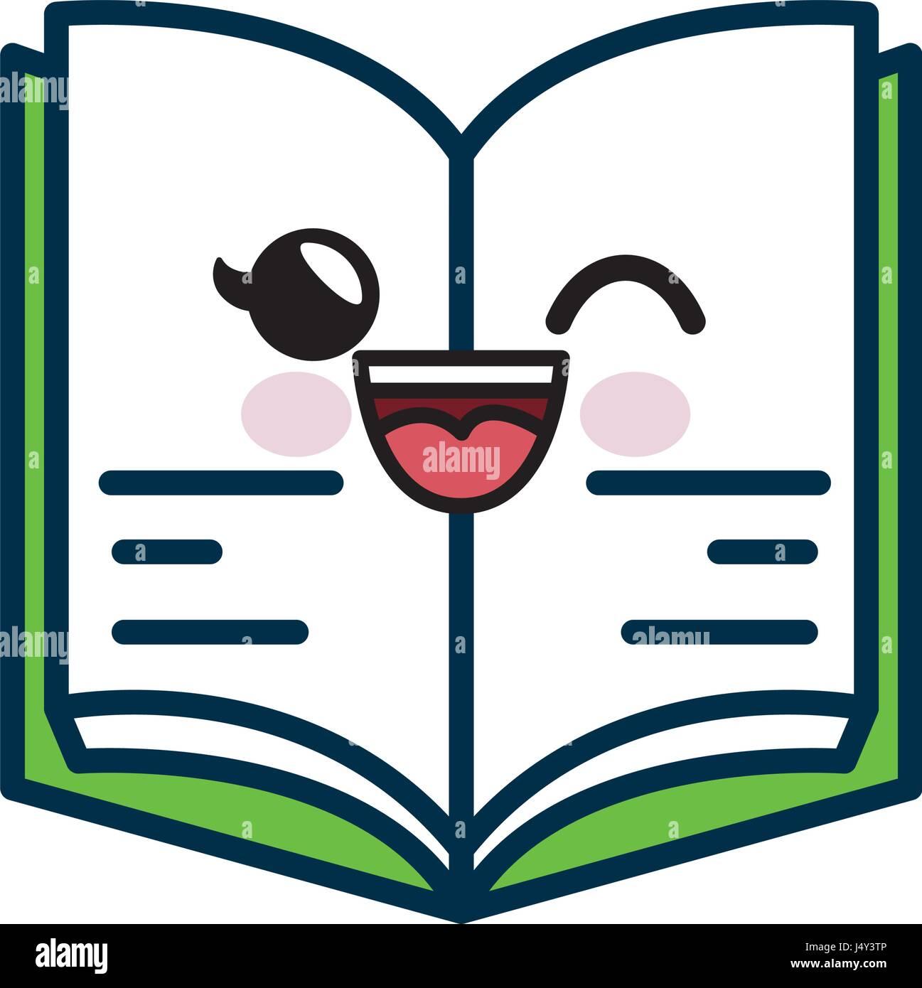 Icone Livre Kawaii Vecteurs Et Illustration Image