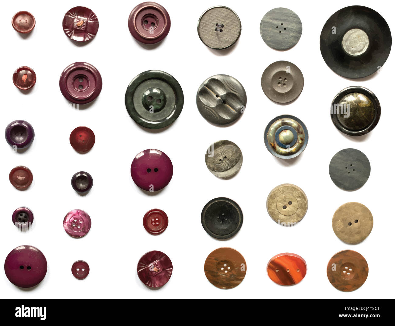 Collection de vecteurs Boutons Photo Stock