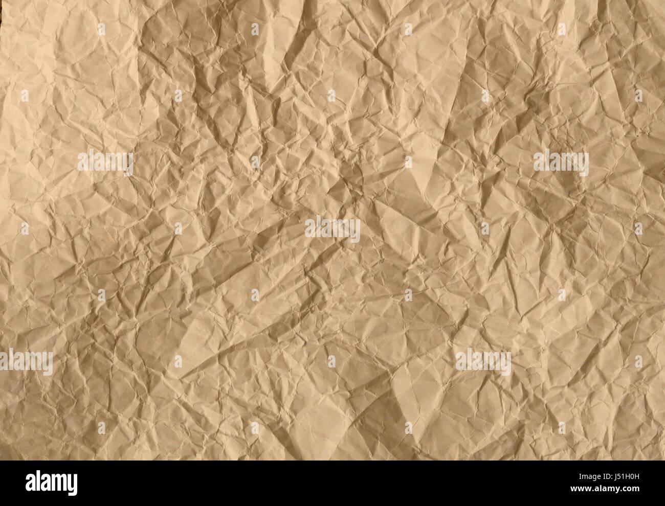 La texture du papier froissé Photo Stock
