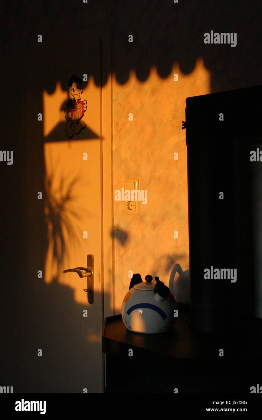 Coucher Du Soleil Dans Une Cuisine Banque D Images Photo Stock