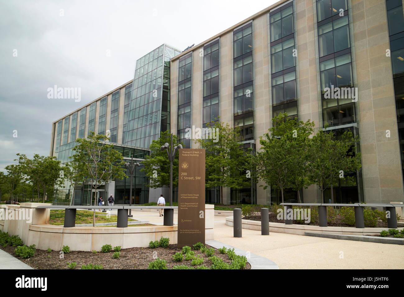 Thomas P. O'Neill Jr bâtiment fédéral chambre des représentants des États-Unis et du département de la santé et des services à Washington DC USA Banque D'Images