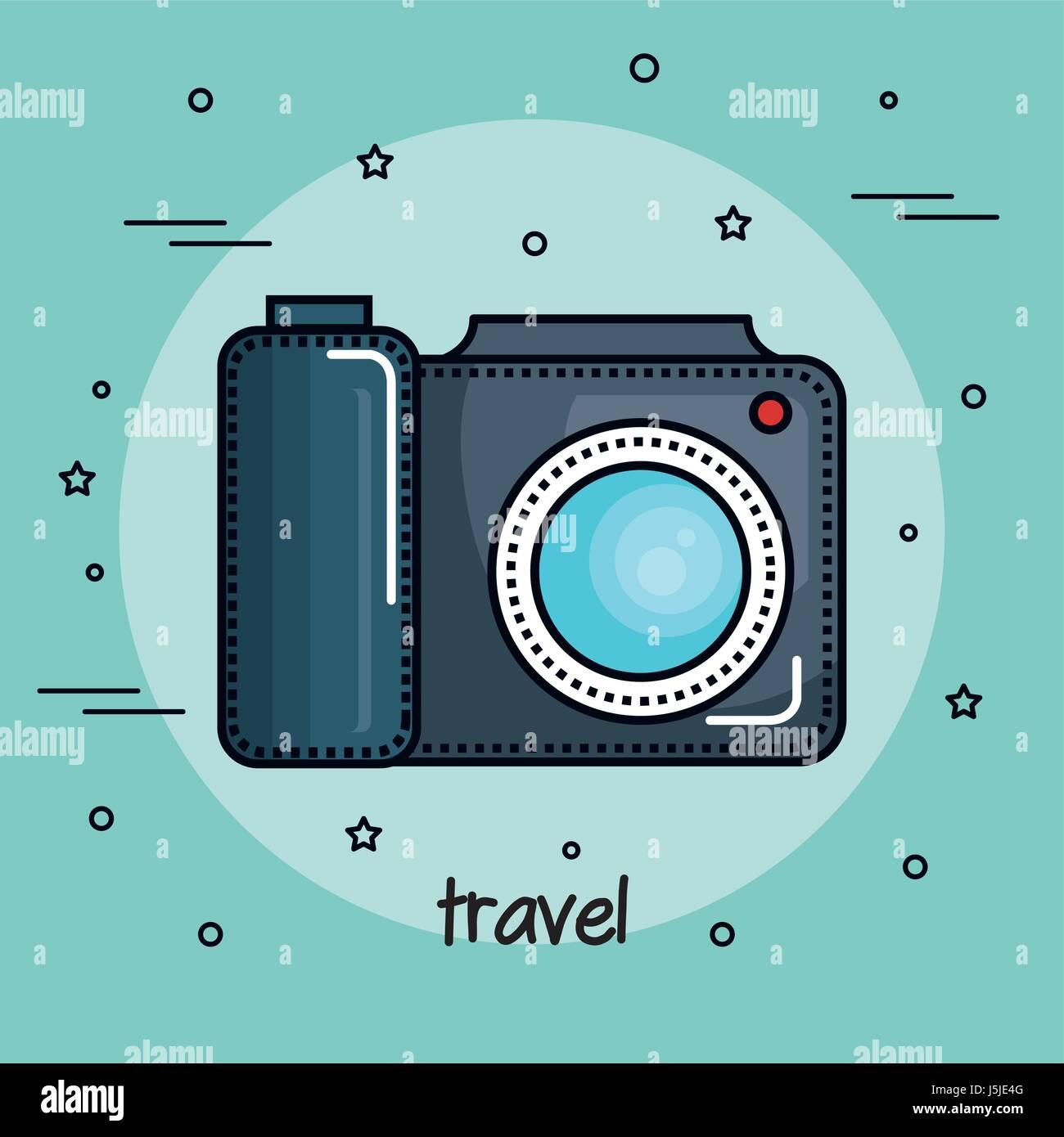 La conception de l'appareil photo couleur Illustration de Vecteur