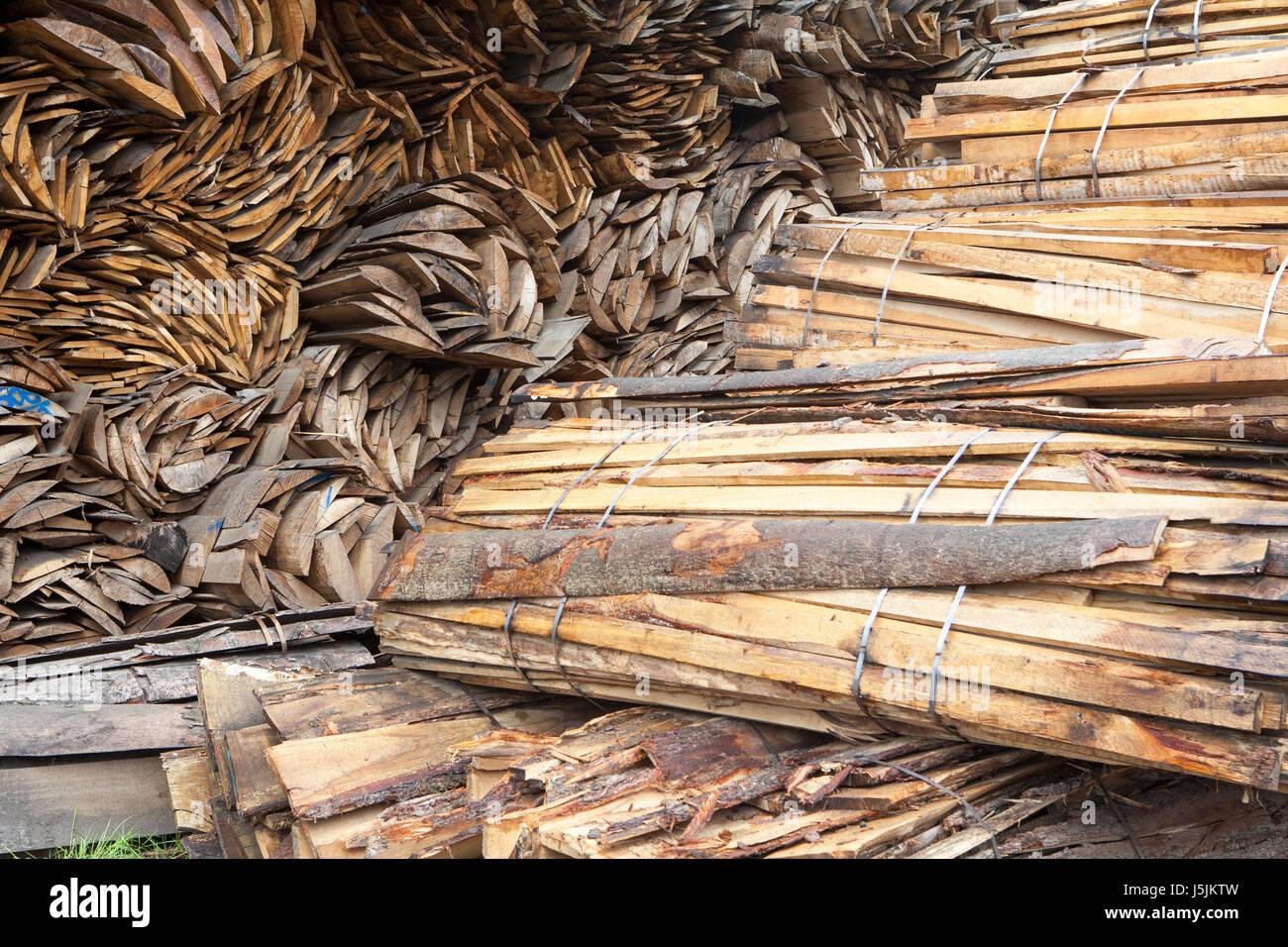Pile de bois de hêtre, Allemagne Photo Stock