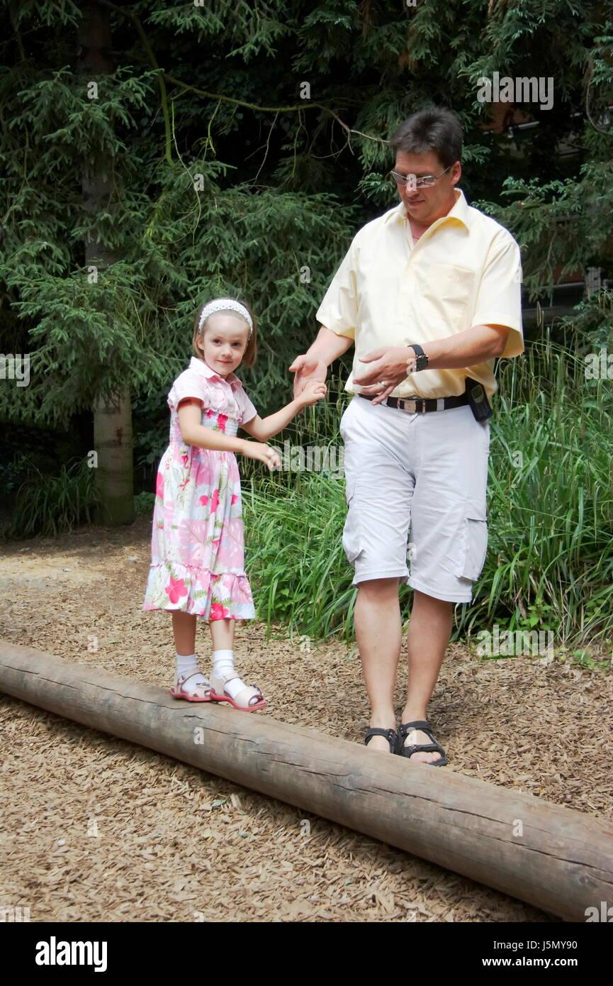Père et fille Banque D'Images