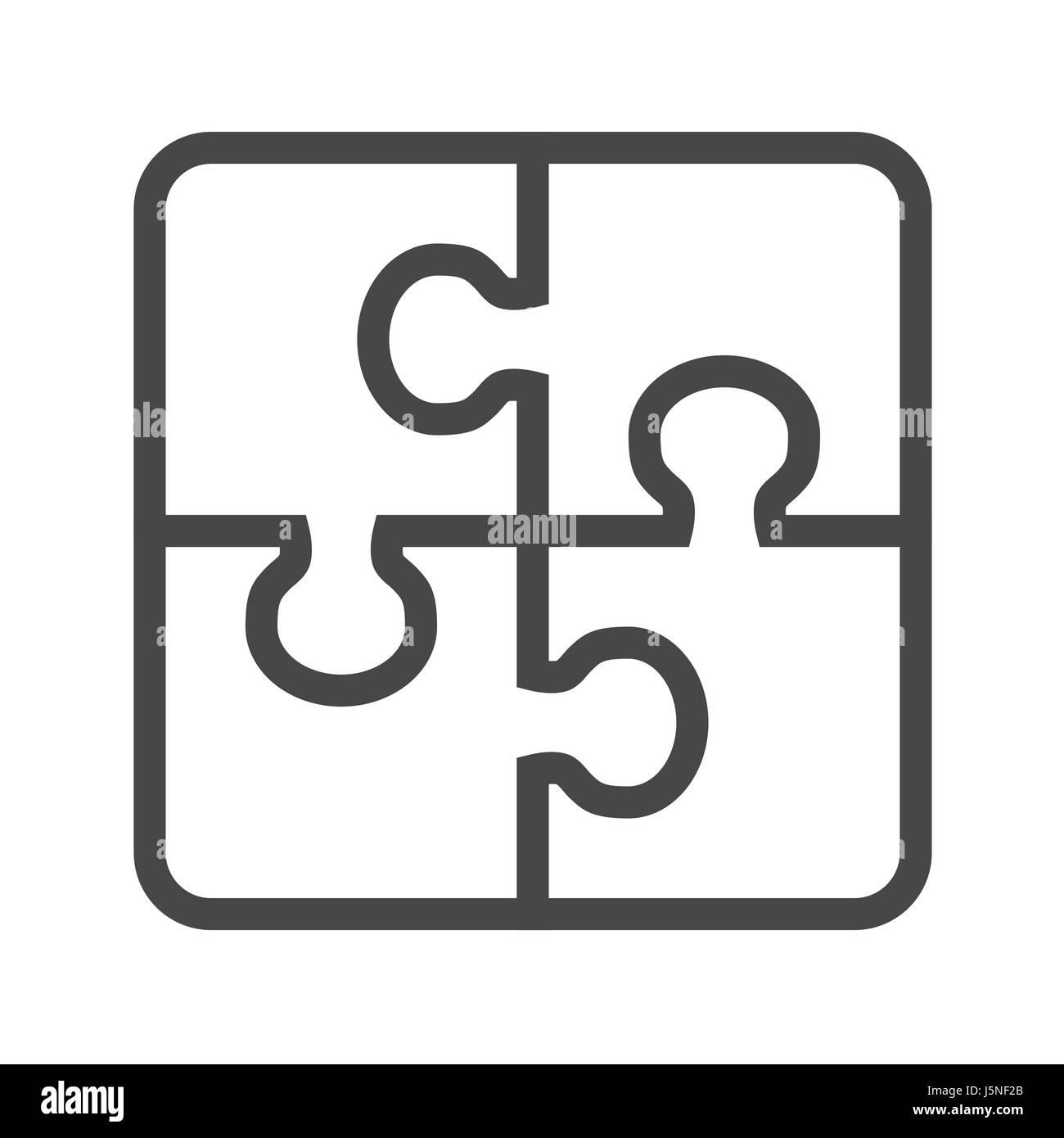 Casse-tête fine ligne Icône vecteur. L'icône de la télévision isolé sur  fond blanc. Fichier EPS modifiables. Vector illustration Image Vectorielle  Stock - Alamy