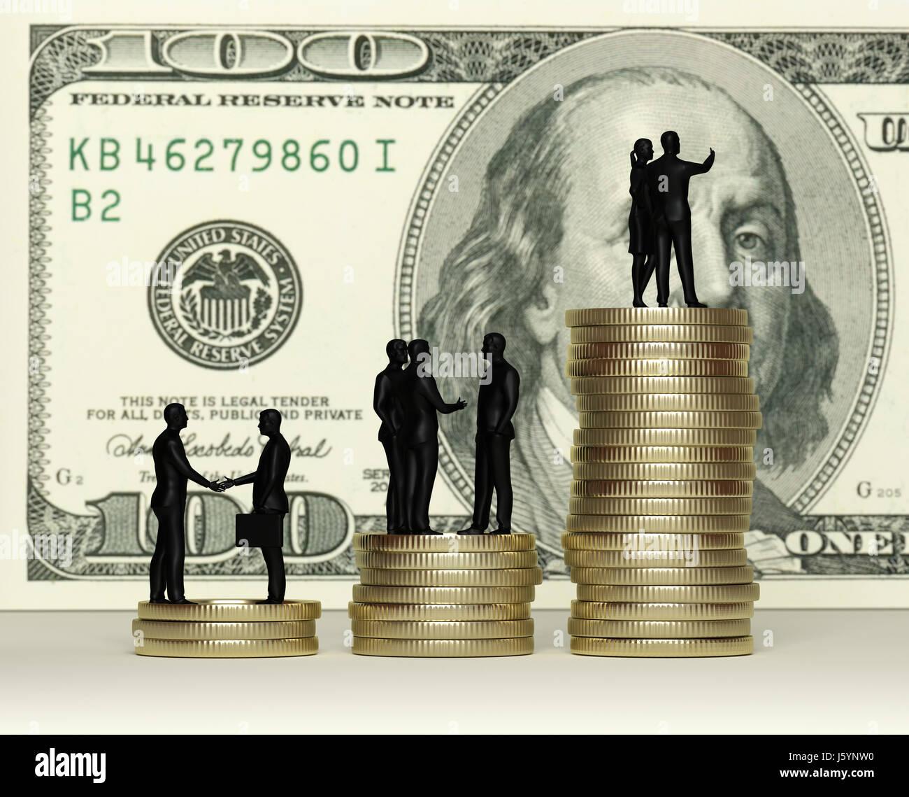 La croissance. Concept d'entreprise. Le rendu 3D Banque D'Images
