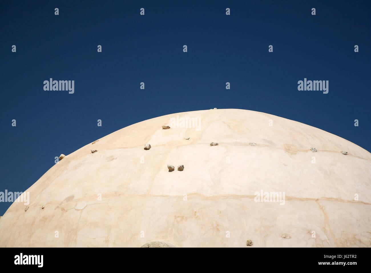 Pierre bleu firmament ellipse bleu ciel couverture couvrant la pierre de construction maison Photo Stock