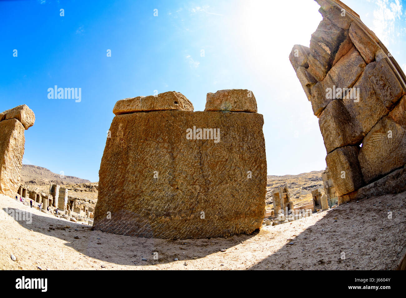 Ruines de la Perse antique de Persépolis en Iran Photo Stock
