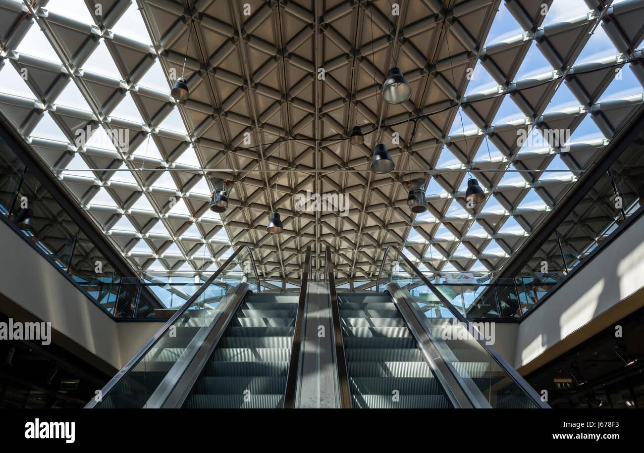 Baleine de Budapest, Balna bâtiment. L'architecture moderne en Hongrie.Whale (Balna) bâtiment représente une fusion Banque D'Images