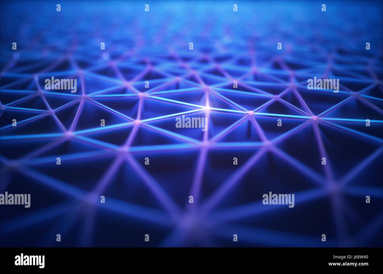 3D illustration. Résumé fond, raccordement et les lignes de la technologie. Banque D'Images