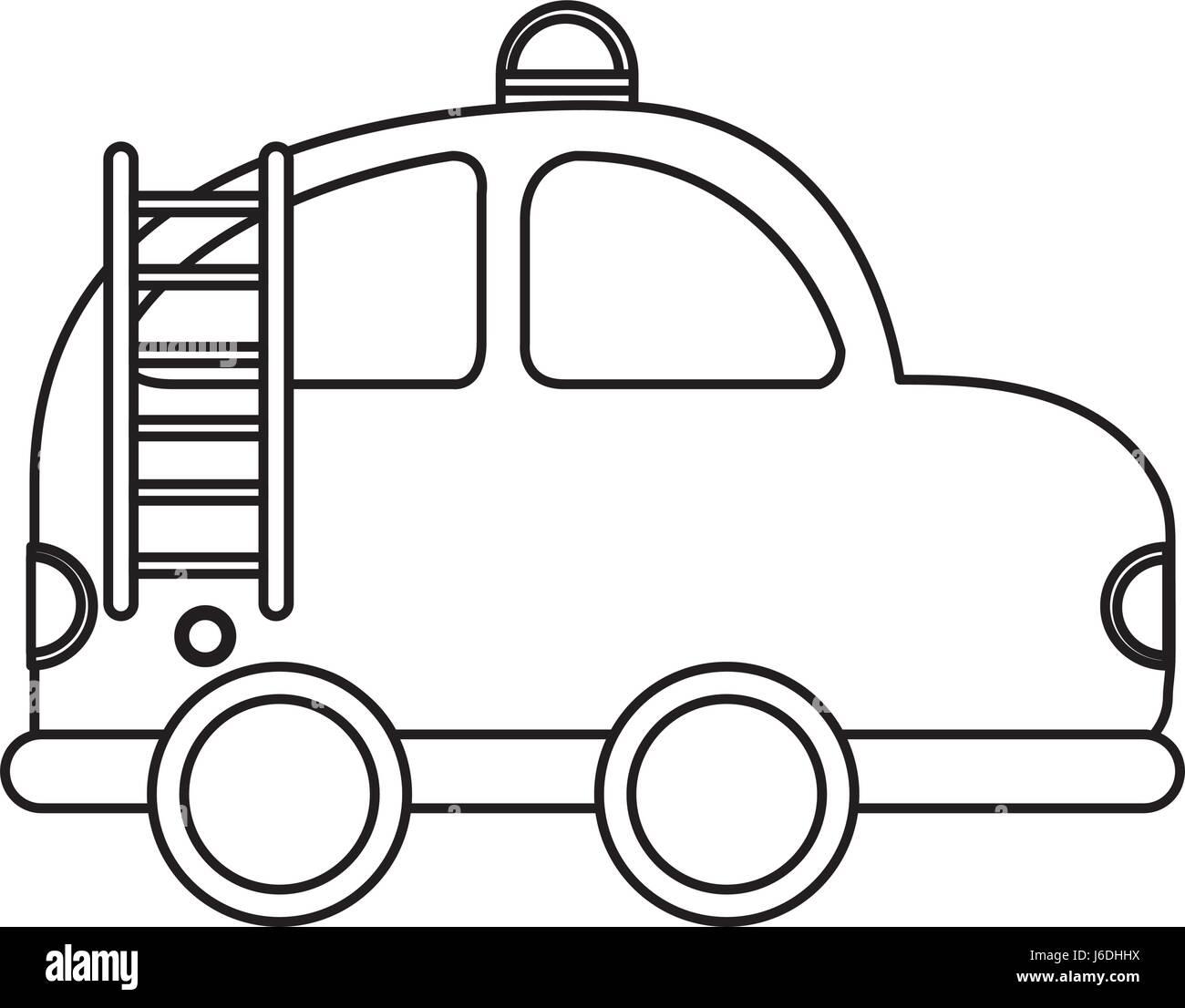 L Icone Dessin Voiture Pompier Vecteurs Et Illustration Image