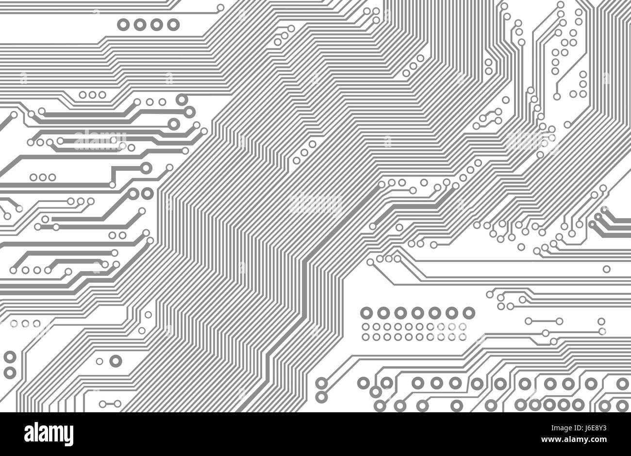 La technologie de composants carte mère circuit imprimé scheme toile ...