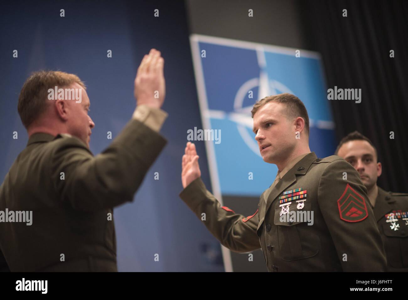 Le colonel des marines Philippe Rogers, délégation militaire américaine à l'Organisation Photo Stock