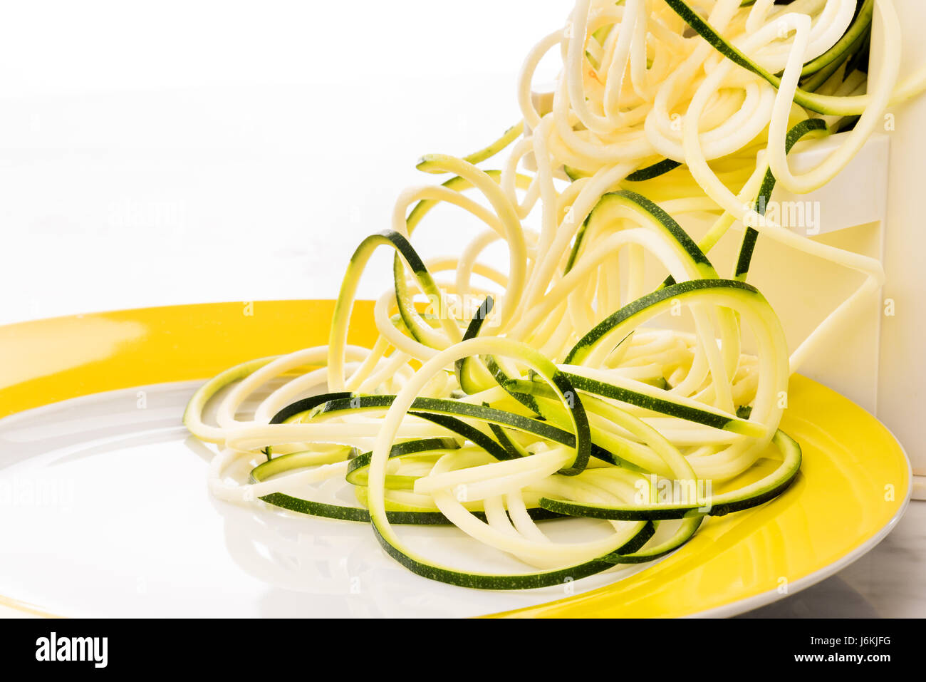 Zoodles décisions spaghettis de légumes Pâtes courgettes bas carb Photo Stock
