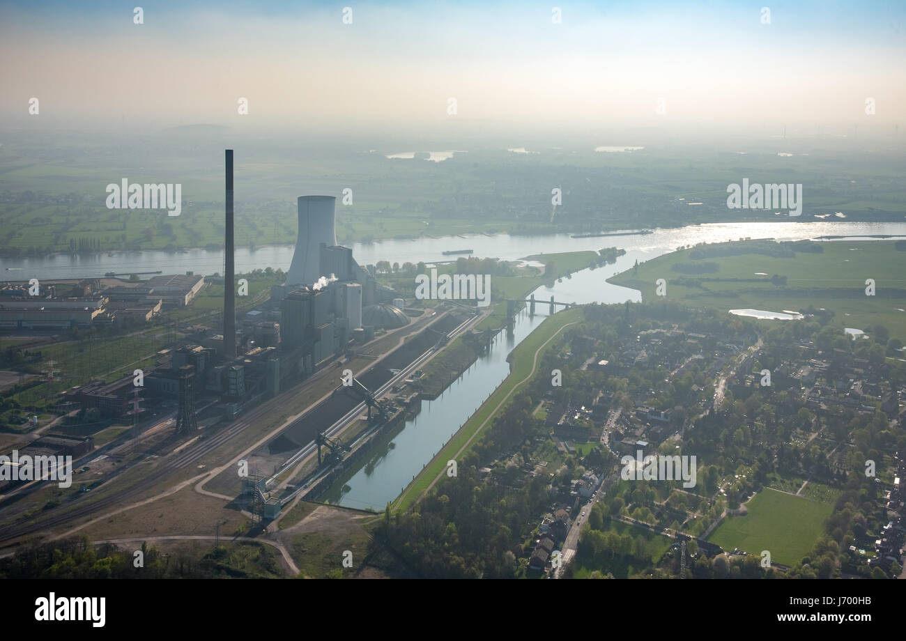 La mine de Walsum, ancienne centrale électrique au charbon, combustibles fossiles, power station Walsum, Rhin, Photo Stock