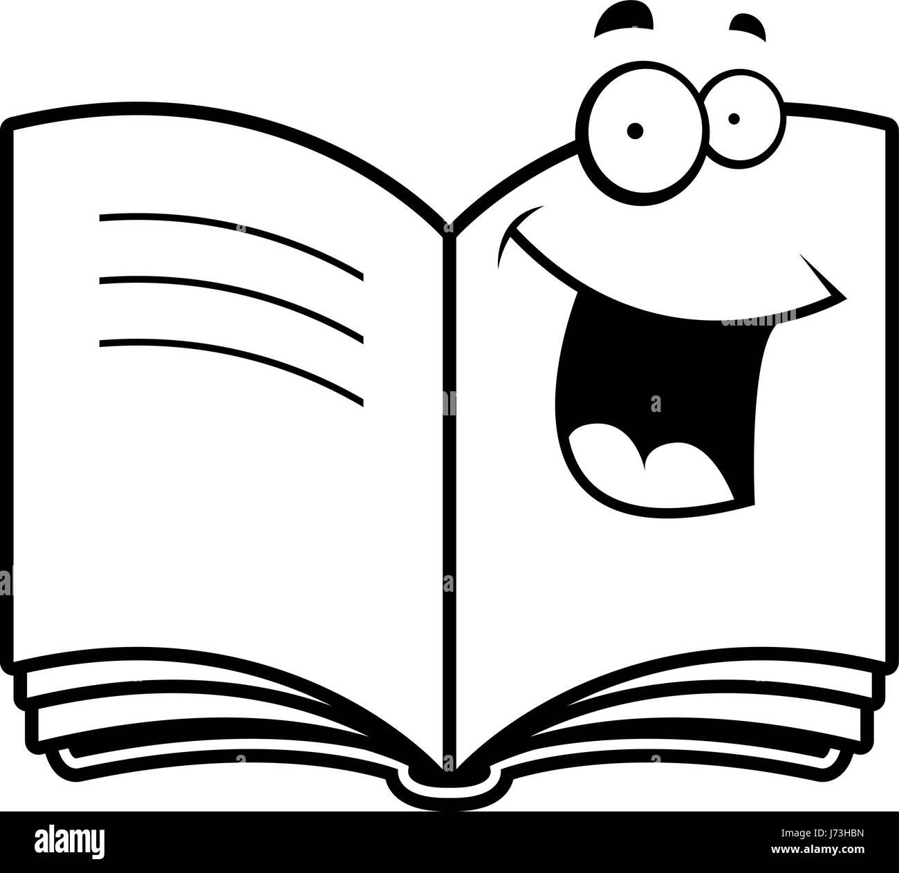 Un Dessin De Livre Ouvert Heureux Et Souriants Vecteurs Et
