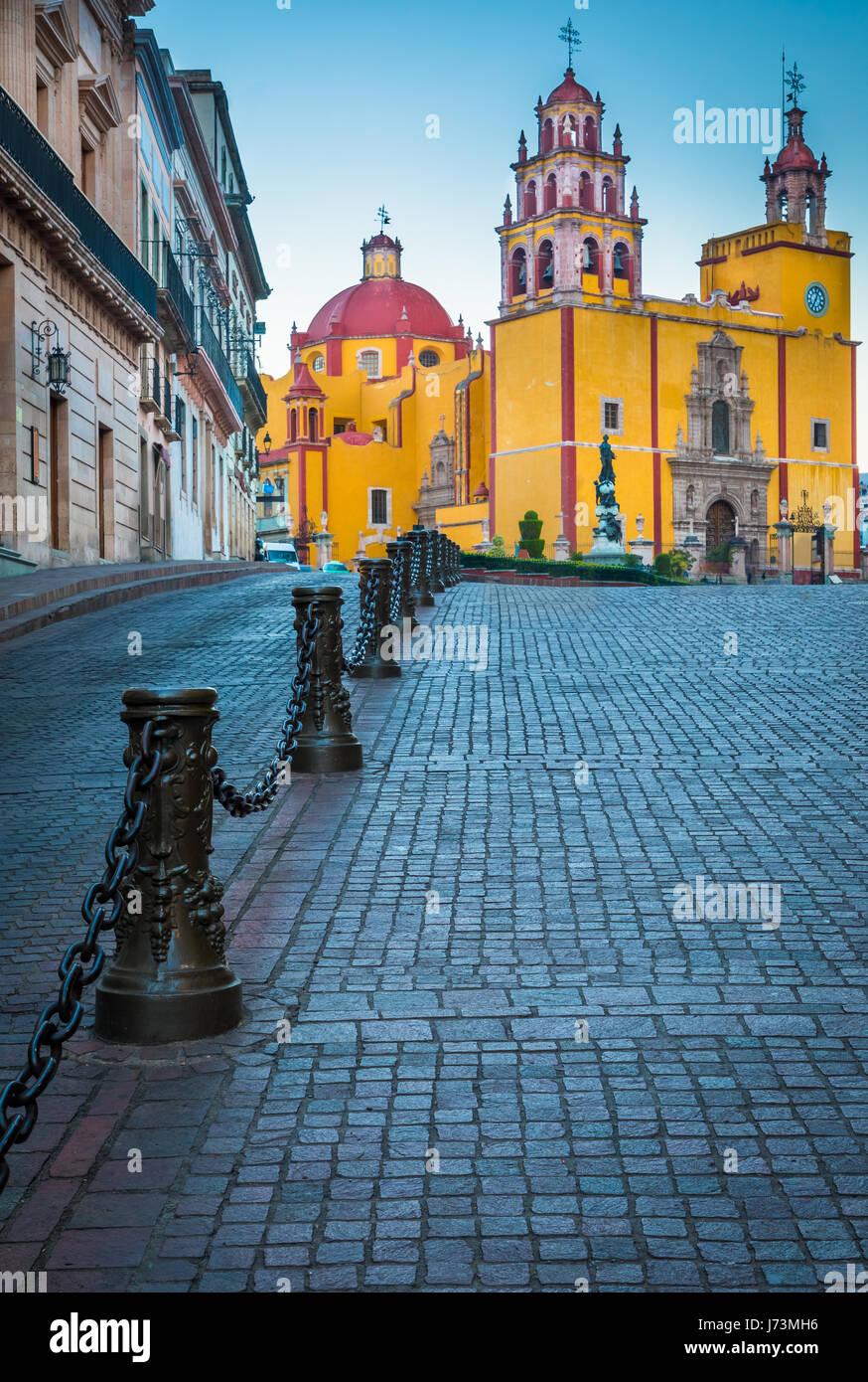 La basilique collégiale de Nuestra Señora de Guanajuato est considéré comme l'un des plus Photo Stock