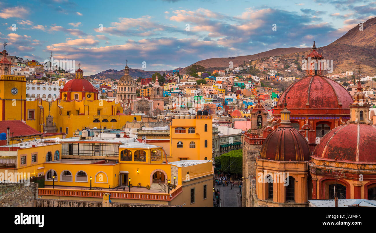 ------ Guanajuato est une ville et une municipalité située dans le centre du Mexique et la capitale de Photo Stock