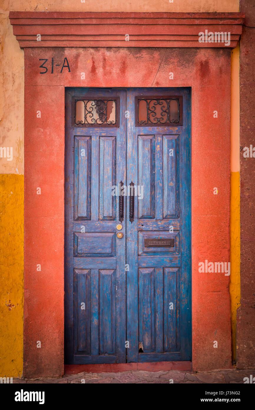 San Miguel de Allende est une ville et une municipalité située dans la partie extrême-orientale de Photo Stock