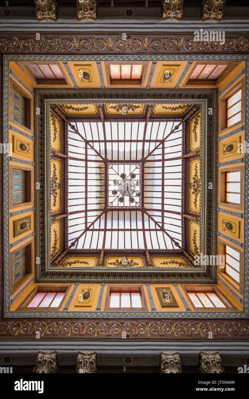 Le Teatro Juarez est l'une des plus magnifiques bâtiments architecturaux dans Guanajuato. Photo Stock