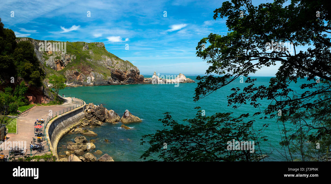 Go - DEVON : Anstey's Cove près de Torquay Photo Stock