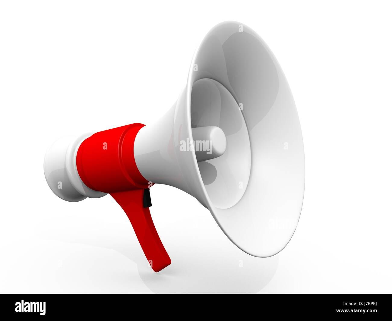 Nouvelles Fort Volume Megaphone Femme Crier Parler Parler Parler Parler Parle Photo Stock Alamy