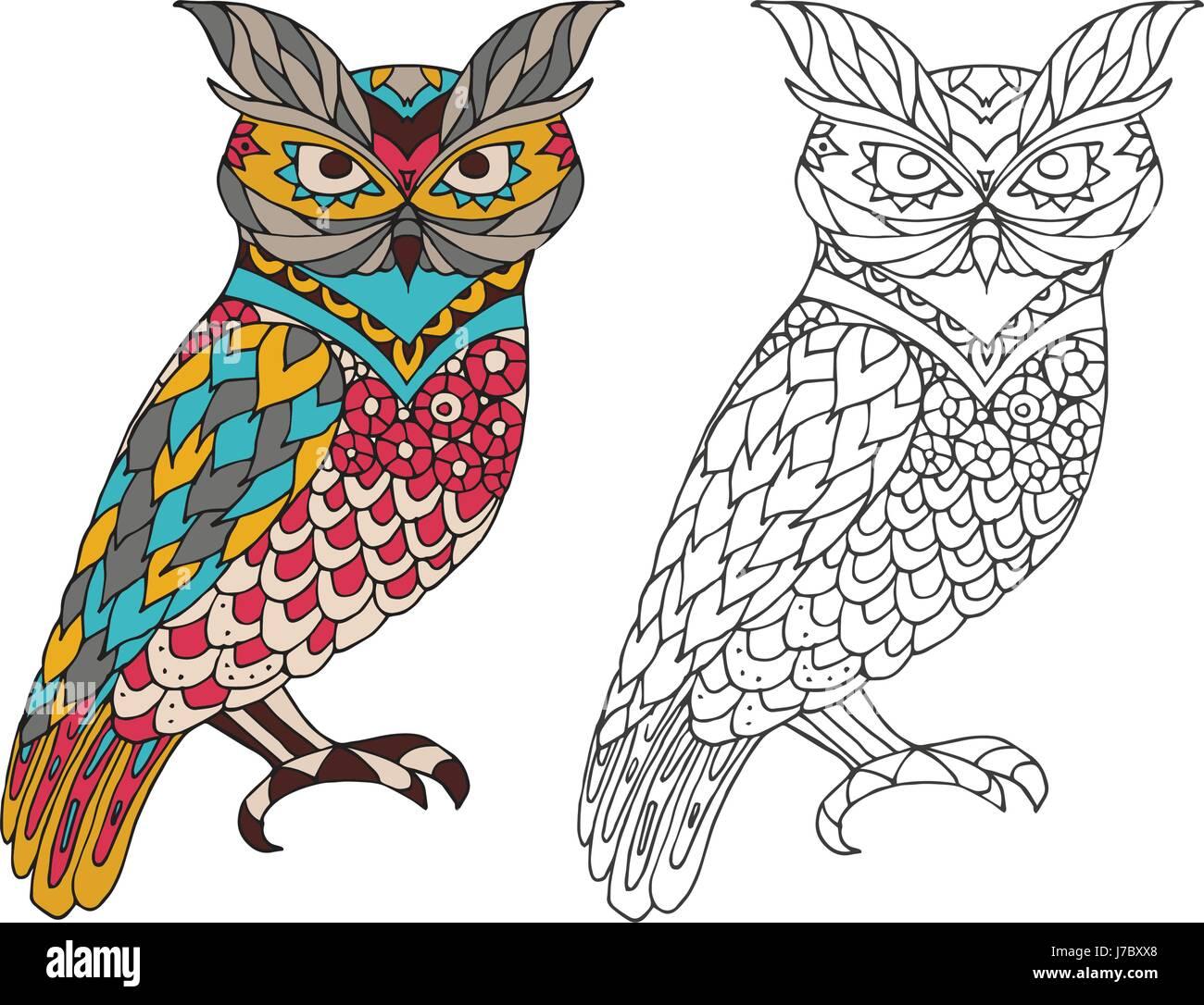 Livre De Coloriage A Imprimer La Page Pour Les Adultes Owl