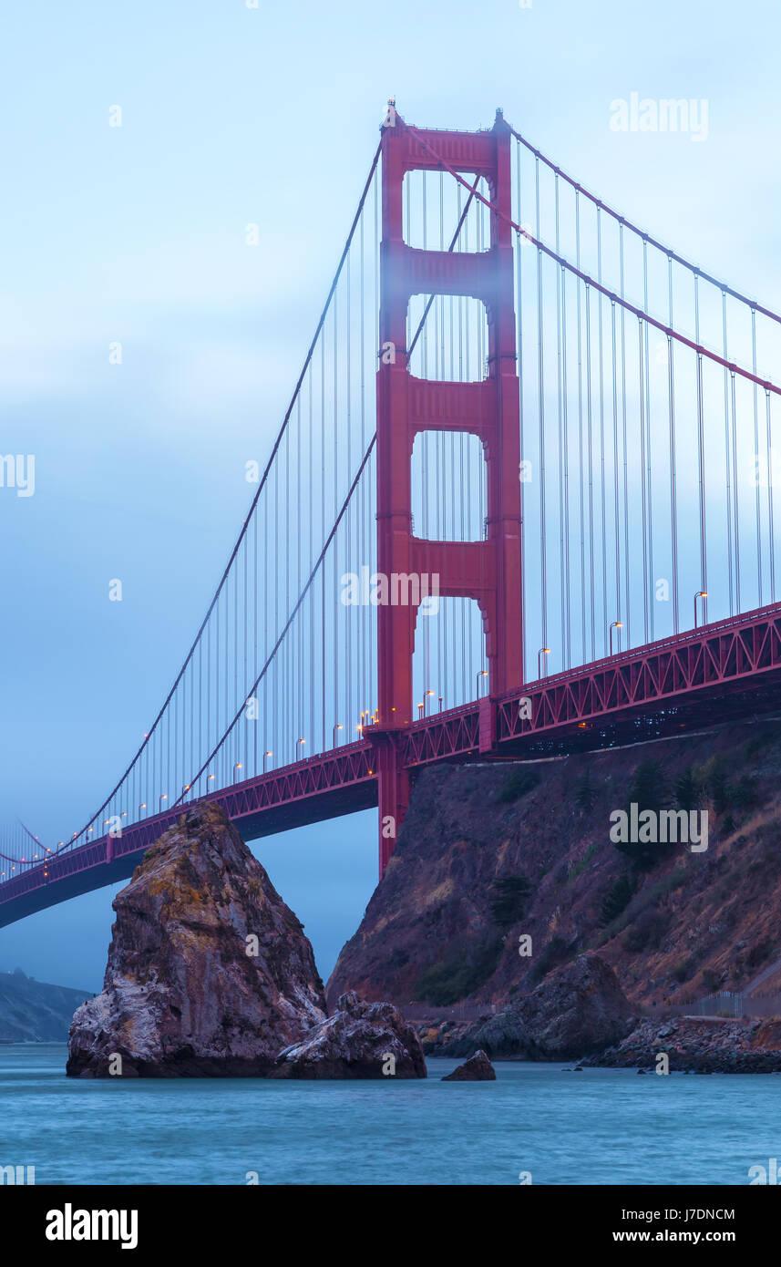 Le golden gate bridge à San Francisco, Californie Photo Stock